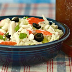 Summertime Crab Slaw with Napa Cabbage