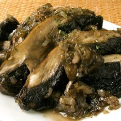 Grilled Portobellos Sauteed in Wine Recipe