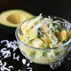 Tropical Avocado Fruit Salad with Honey-Lime Dressing Recipe