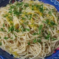 Quick Angel Hair with Basil Cream for One