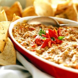 Hot Roasted Red Pepper and Artichoke Dip