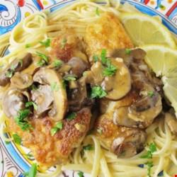 Mushroom Chicken Piccata Recipe