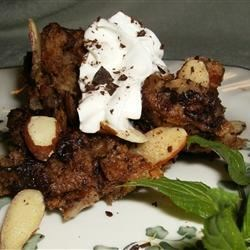 Chocolate Custard Bread Pudding Recipe