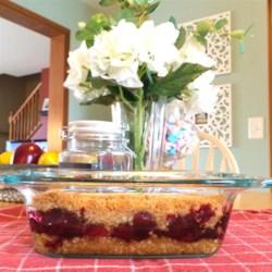 Jill's Cherry Crisp Recipe