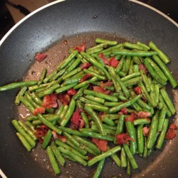 Green Bean and Bacon Saute Recipe
