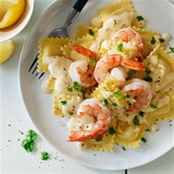 Shrimp and Pasta in Lemon Cream Sauce Recipe