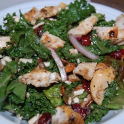 Kale, Swiss Chard, Chicken, and Feta Salad Recipe