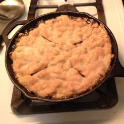 Grandma's Iron Skillet Apple Pie Recipe