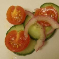 Crispy Cucumbers & Tomatoes in Dill dressing