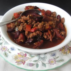 Traditional Chili with Ground Turkey Recipe