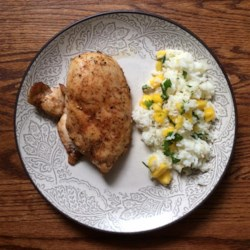 Caribbean Chicken with Pineapple-Cilantro Rice Recipe ...
