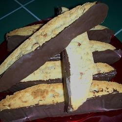 Chocolate Dipped Orange Biscotti