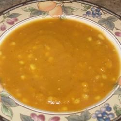 Summer Soup of Butternut and Corn Recipe