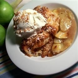 Coconut-Apple Cobbler Recipe