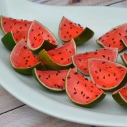 Sliced Watermelon Jell-O(R) Shots
