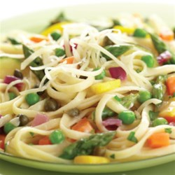 Pasta Primavera with Lemon-Caper Sauce Recipe