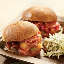 Sweet and Sour Hot Ham Sandwiches Recipe