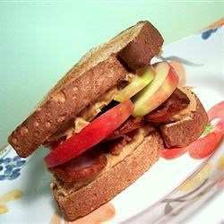 Photo of Peanut Butter, Bacon and Apple Sandwiches by Katie Schumm