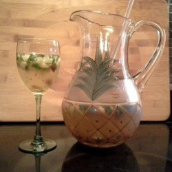 Peach-Basil White Sangria Recipe