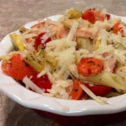 Pasta Primavera in Light Pink Cream Sauce Recipe