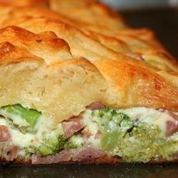 Ham Broccoli Braid