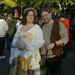 Lady Jenna and her Footman at King Richard's Faire
