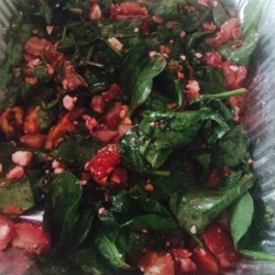 Strawberry Spinach Salad With Feta and Bacon Recipe