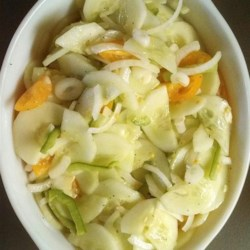 Grandmother's Sour Cream Cucumber Salad  Recipe