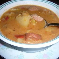 german sausage chowder