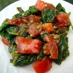 Pesto Spinach and Tomatoes Recipe