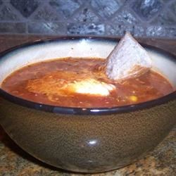 chicken chili-like soup