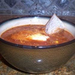 chicken chili-like soup