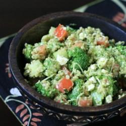 Parsley Walnut Pesto Quinoa Salad Recipe