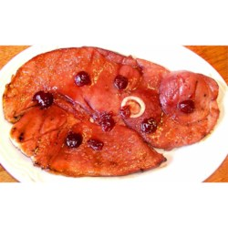 Cook's Ham Steak with Classic Cherry Glaze Recipe