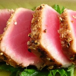 Grilled Macadamia-Crusted Tuna with Papaya Salsa Recipe
