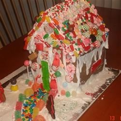 Julie's gingerbread house