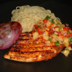 Caribbean Grilled Chicken Breast with Pineapple Salsa Recipe