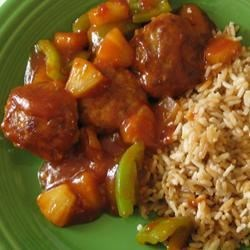 Sweet and Sour Pork Patties