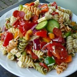 pasta salad with homemade dressing printer friendly