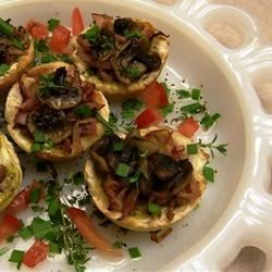 Photo of Garlicky Mushroom Toast Cups by Kathy Midkiff Goins