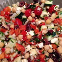 Mediterranean Zucchini and Chickpea Salad
