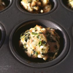 baked spinach feta and turkey meatballs printer friendly
