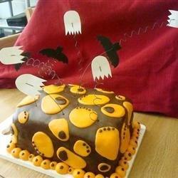Rolled Fondant Halloween Cake