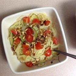Zucchini Pasta with Pine Nuts Recipe