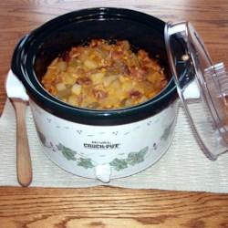 Corny Ham and Potato Scallop