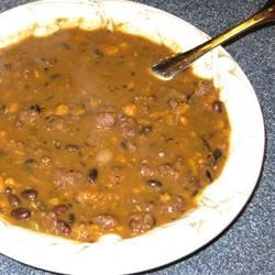 Black Bean, Sausage, and Sweet Potato Soup