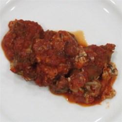 Eggplant Manicotti with Sausage