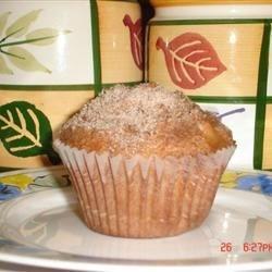 Jumbo Fluffy Walnut Apple Muffins