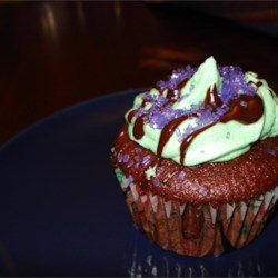 Mint Buttercream Frosting With Dark Chocolate Glaze Recipe