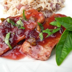 Pork Cutlets with Cranberry Wine Sauce |